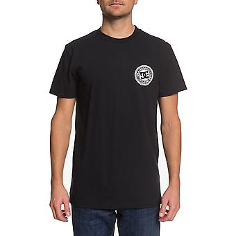 DC Circle Star Short Sleeve T-Shirt in Black/Snow White