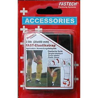 FASTECH® 693-330 Hook-and-loop tape with strap Hook and loop pad (L x W) 450 mm x 20 mm Red/black 2 pc(s)