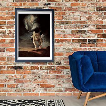 Henry Fuseli - Upside Down Poster impressão giclée