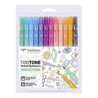 Tombow TwinTone marqueurs 12pc ensemble pastels 19-WS-PK-12P-2
