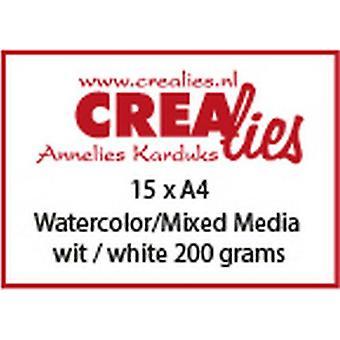 Crealies Basis A4 watercolor 200 grm (15x) CLBS104 A4