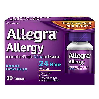Allegra 24 hour allergy, 180 mg, tablets, 30 ea