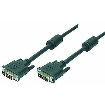 LogiLink 2m DVI-D DVI kabel Zwart