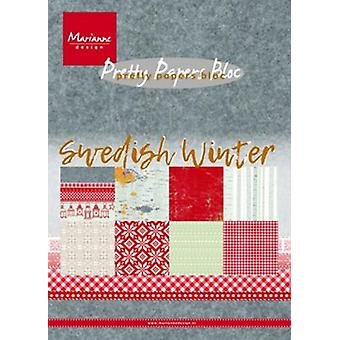 Marianne Design Paper pad Swedish winter A5 PK9159 15 x 21 cm
