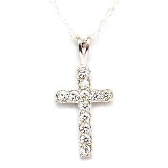 The Olivia Collection Sterling Silver Cross Pendant on 18 Inch Chain