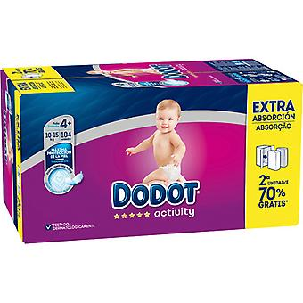 Dodot Activity Extra Savings Box Diaper size 4 with 104 units