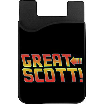 Back To The Future Great Scott Phone Card Holder