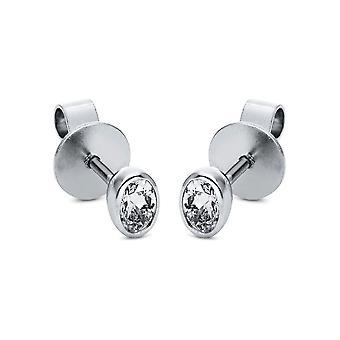 Diamond stud earrings stud earrings - 18K 750/- white gold - 0.47 ct. - 2H725W8-1