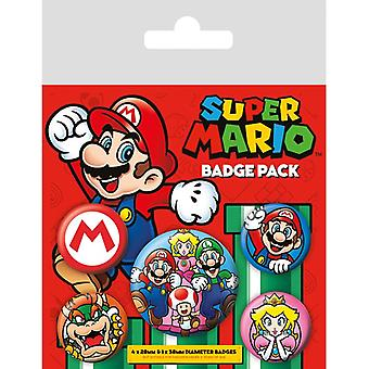 Super Mario Pin Knop Badges Set