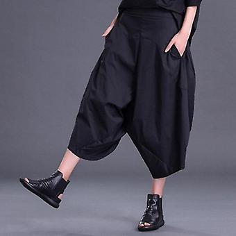 جيب الترفيه واسعة الساق السراويل