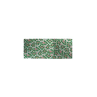 Culpitt Silver Holly Christmas Cake Card 12-quot; X 5-quot;