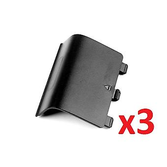 3x Black Battery Wireless Controller Back Cover Pack for Xbox One