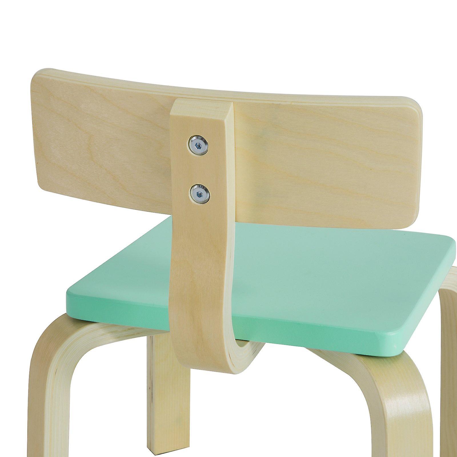 SoBuy KMB29-HB, Children Chair, Wooden Kid Children Chair with Backrest, Children Room Chair, Green Seat