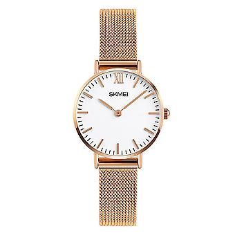 Skmei Women's Rose Gold Ultra Thin Classic Watch Stainless Steel Strap Clear Display SK1811RG