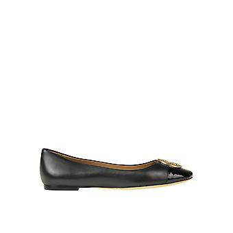 Tory Burch Ezgl032022 Dames's Black Leather Flats
