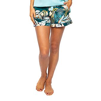 Cyberjammies Valerie 4533 Women-apos;s Green Flamingo Print Pyjama Short