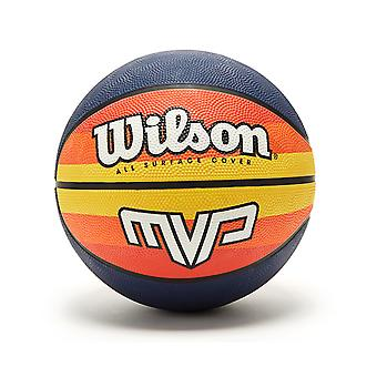 Wilson MVP All Surface Cover Mini Basketball Ball - Bleu/Orange/Jaune