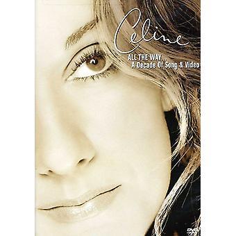 Celine Dion - todas la forma década de importación de Estados Unidos la canción [DVD]