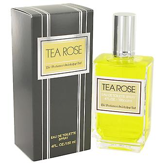 TEA ROSE door parfumeurs Workshop Eau De Toilette Spray 4 oz/120 ml (vrouwen)