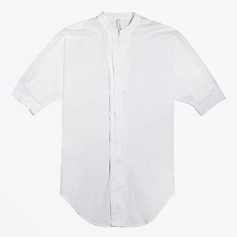 Ania Schierholt  - V-Neck Pleated Shirt - White