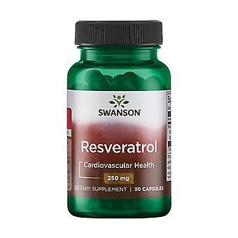 Resveratrol 250 mg 30 capsules
