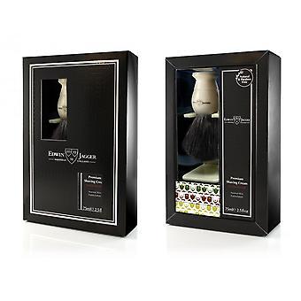 Blaireau Ivory Gift Set En Creme A Shave Au Bois De Santal- Edwin Jagger