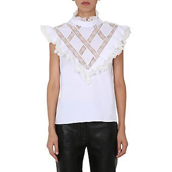 Filosofia Por Lorenzo Serafini 021157252 Women's White Cotton Top