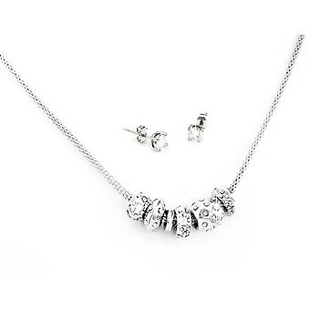3 X Triton Set - Plata, Oro y Rosa incrustado con cristales de Swarovski