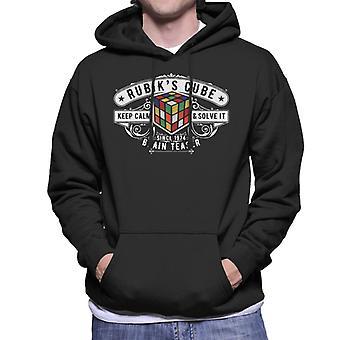 Rubik's Cube Badge Since 1974 Men's Hooded Sweatshirt