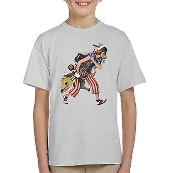 The Saturday Evening Post Liberty Girl Norman Rockwell Kid's T-Shirt