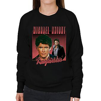 Knight Rider Michael Knight Retro Montage Women's Sweatshirt