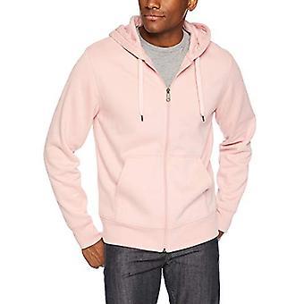 Essentials Men's Full-Zip Hooded Fleece Sweatshirt, Pink, XX-Large
