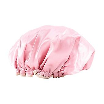 Satin Silk Bonnet Sleep Cap With Elastic Band - Women Sleep Night Headwrap Hair