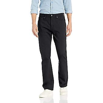 Essentials Men's Slim-Fit Stretch Bootcut Jean, Schwarz, 34W x 33L