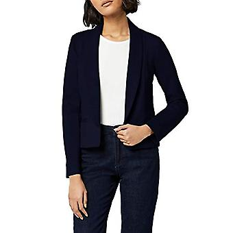 MERAKI Women's Shawl Collar Fitted Blazer, Navy, EU XL (US 12-14)