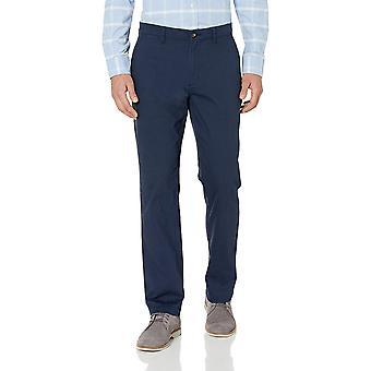 Essentials Men's Straight-Fit Casual Stretch Khaki, Marine, Größe 40W x 30L