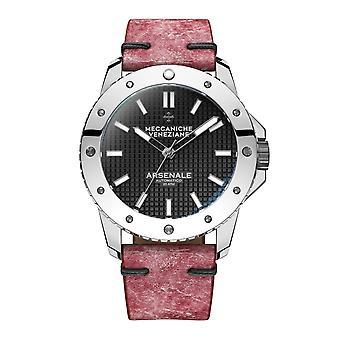 Meccaniche Veneziane 1303005 Arsenale Automatic Red Leather Wristwatch