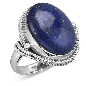 ADEN 925 Sterling Silber Lapis Lazuli ovale Form Ring (id 4276)