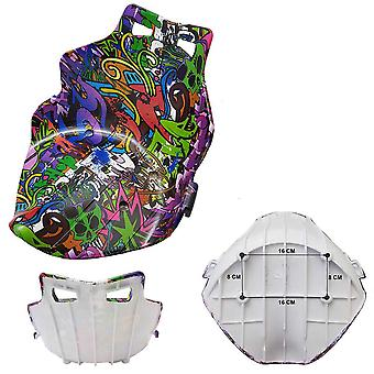 HYDRO-DIPPED REPLACEMENT SEAT FOR HOVERKART / HOVERCART - GREEN GRAFFITI
