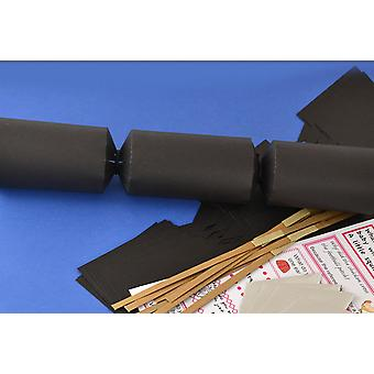 Single Black Make & Fill Your Own DIY Recyclable Christmas Cracker Craft Kit