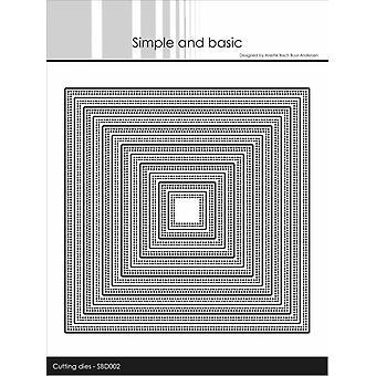 Enkel och grundläggande Dubbel Pierced Square Metal Dies