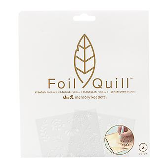 We R Memory Keepers Foil Quill Freestyle Floral Stencils