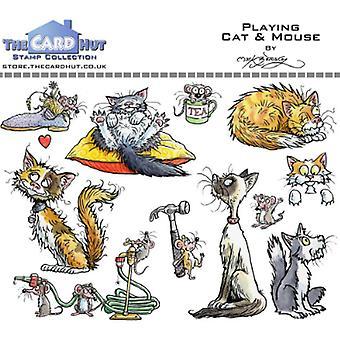 Kortet Hut spelar Katt & Mus Rensa Frimärken