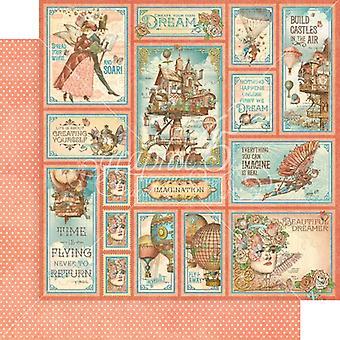 رسومات 45 القلاع في الهواء 12x12 بوصة حزمة الورق