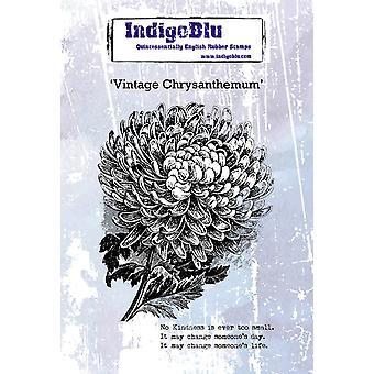 IndigoBlu Vintage Chrysant A6 Rubber Stempel