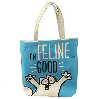 Simons katten jeg Feline god bomull Bag