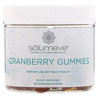 Solumeve, Cranberry Gummies, Gelatin Free, Cranberry Flavor, 100 Vegetarian Gumm