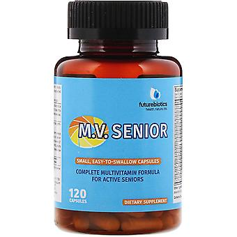 FutureBiotics, M.V. Senior Complete Multivitamin Formula, 120 Capsules