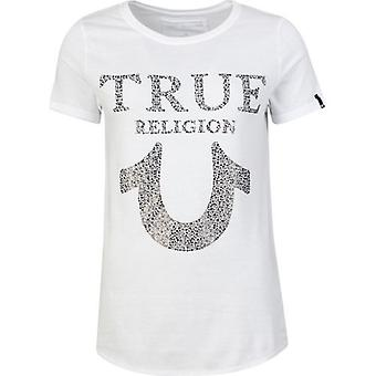 True Religion Crystal Embellished Logo T-Shirt