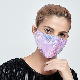 Mouth Cover Bling Fashion Decorative Sequin Washable Face Dust Mask